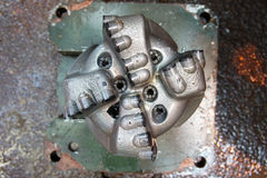 Old PDC drilling bit just pulled out Royalty Free Stock Images