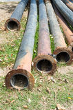 Old PE. pipes Royalty Free Stock Images