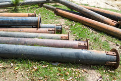 Old PE. pipes Stock Images