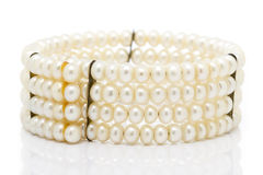 Old Pearl Bracelet Royalty Free Stock Photography