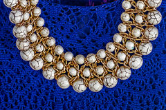 Old pearl necklace Stock Images