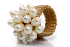 Old Pearls Ring Weave Royalty Free Stock Photography