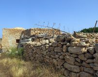 Old peasant houses made of stone in Sicily Italy Royalty Free Stock Photo