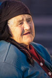 Old peasant woman Royalty Free Stock Photos