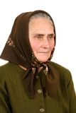Old peasant woman Royalty Free Stock Photo