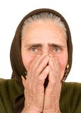 Old peasant woman Stock Photo