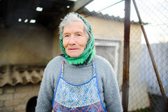 Old peasant woman. Stock Images