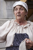 Old peasant woman Stock Photography