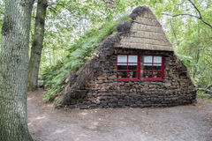 Old peat house in holland province drenthe Stock Image