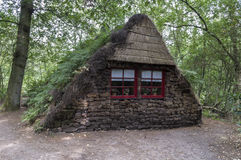 Old peat house in holland Stock Photo