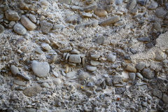 Old pebble stone wall Royalty Free Stock Photo