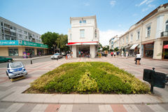 Old pedestrian center of Pomorie in Bulgaria Stock Images