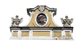 Old pediment. Isolated on a white background Stock Images