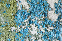 Old peeled concrete wall grunge background Stock Images