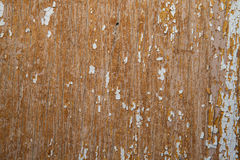 Old and peeled creaky paint , In course of time the white tone off the planks crackled, wood texture, background Royalty Free Stock Photography