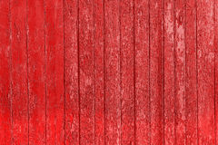 Old peeled wooden planks with cracked color paint, background old panels. Royalty Free Stock Image