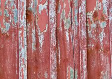 Old peeling barn wood. Peeling red and grey Barn Wood Stock Photos