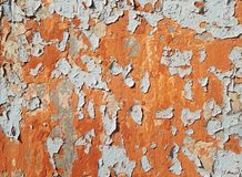 Old peeling paint, abstract background, free space for text royalty free stock photography