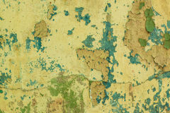 Old peeling paint dirty wall background Stock Photo