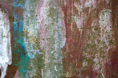 Old Peeling Paint on Rusty Metal Grunge Background Royalty Free Stock Image