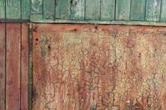 Old Peeling Paint on Rusty Metal Grunge Background Stock Photos