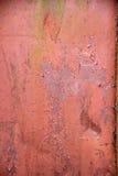 Old Peeling Paint on Rusty Metal Grunge Background Stock Photo