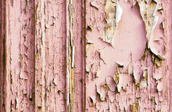 Old peeling paint on wooden background Royalty Free Stock Images