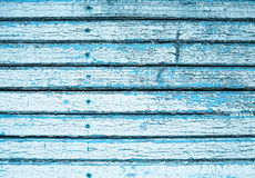 Old peeling paint on the wooden boards Royalty Free Stock Photography