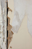 Old peeling wall. Of wood and plaster Stock Photos