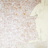Old Peeling Wallpaper Stock Image