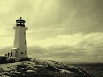 Old Peggy's Cove. An old tinted picture of Peggy's Cove Stock Image