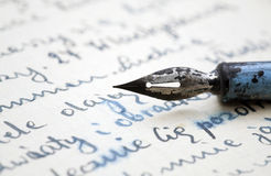 Old pen and letter Stock Image