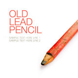 Old pencil and blank paper Royalty Free Stock Photography