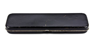 Old pencil box Royalty Free Stock Image
