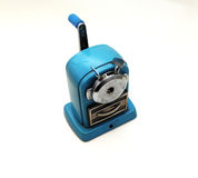 Old pencil sharpener. White background Stock Photos