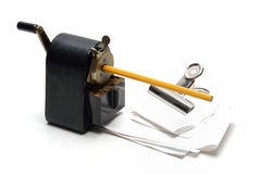 Old Pencil Sharpener Stock Photography