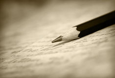 Old pencil Stock Photography