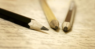 Old pencils banner Royalty Free Stock Photography