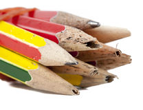 Old pencils Royalty Free Stock Image