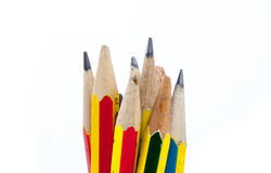 Old pencils Stock Images