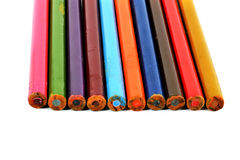 Old Pencils isolated. On a white background Royalty Free Stock Photos