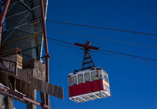 Old pendulum cableway for transport of people Stock Photos