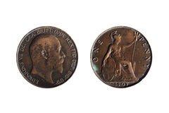 The old penny Royalty Free Stock Images