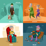 Old People Cartoon Concept Stock Photography