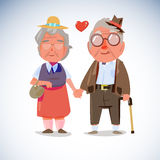 Old people couple hold hand together -  Royalty Free Stock Image