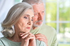 Old people at home Royalty Free Stock Photo