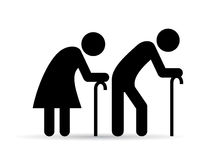 Old people icon. Old elder couple icon vector illustration Stock Photography