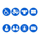 Old people icons set Royalty Free Stock Photos