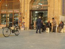 old people in Isfahan Iran stock images