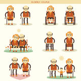 Old people life.Vector icons  Royalty Free Stock Photos